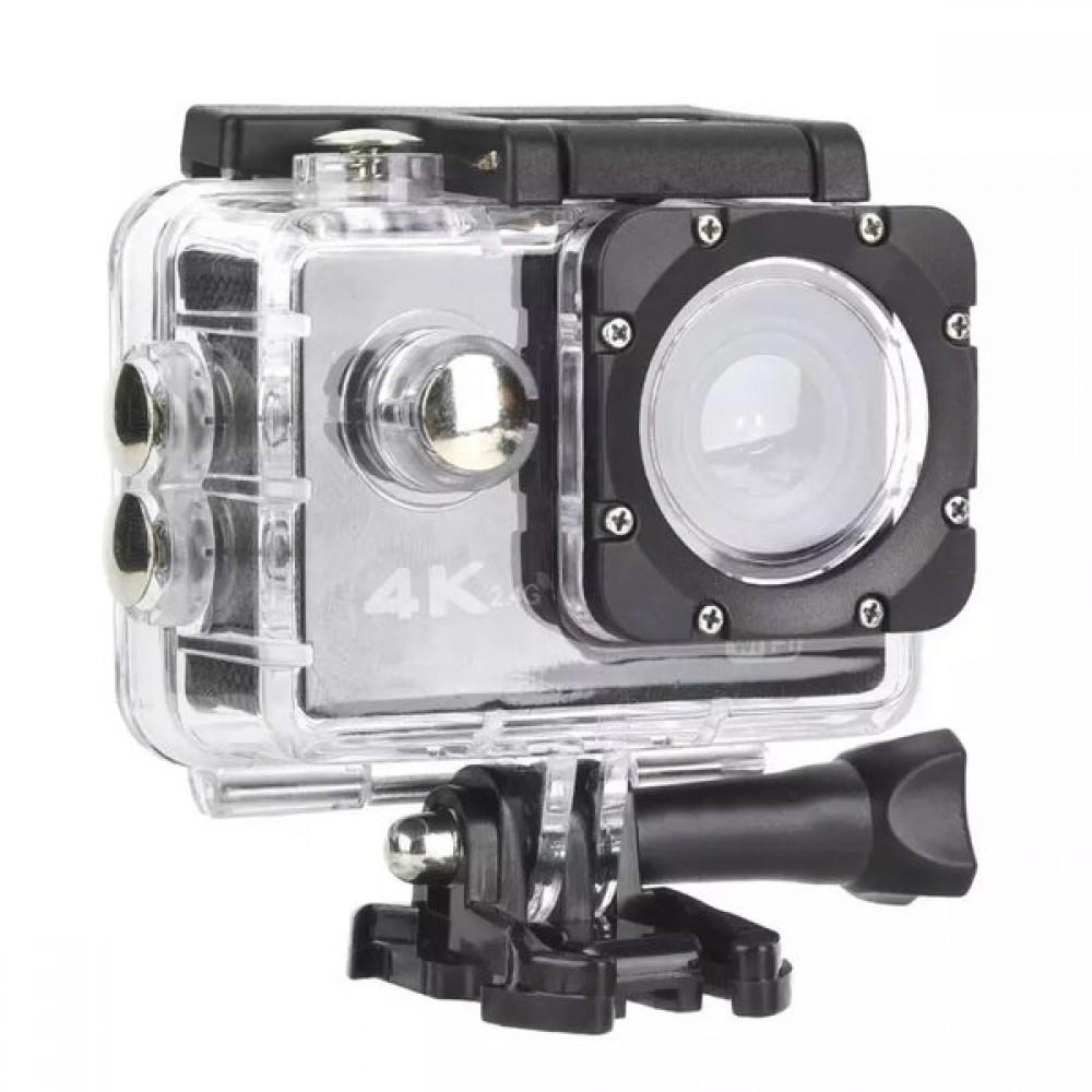 Екшън камера SPORTS CAM-01, водоустойчива, 4K HD, Wi-Fi, без дистанционно - Super цена