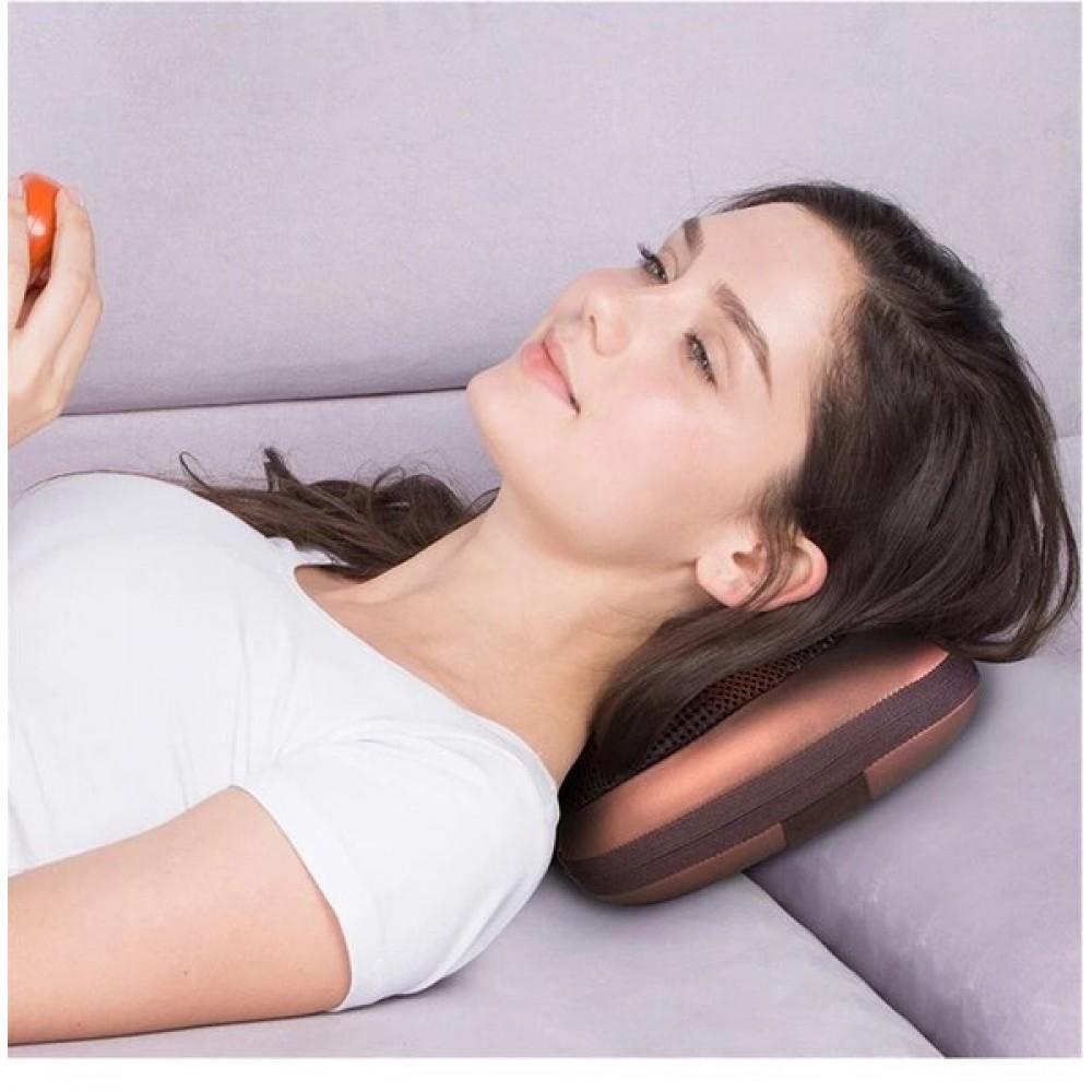 Комплект масажираща възглавница + Мини масажор - Super цена