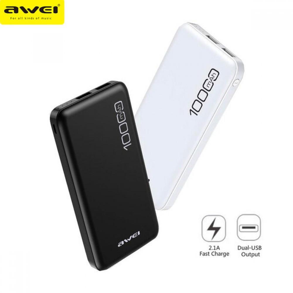 Външна Батерия Power Bank AWEI 10000mAh - Super цена