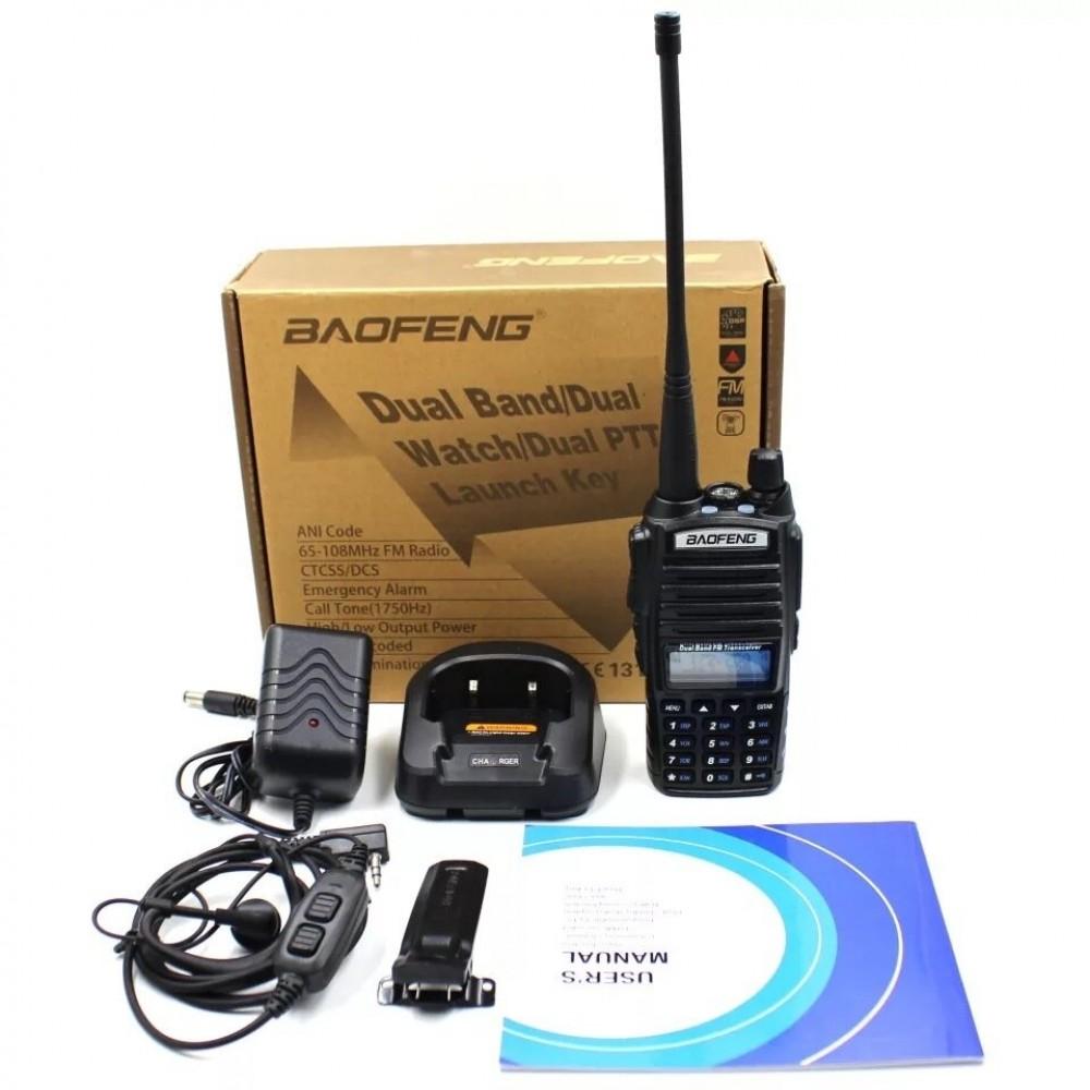 Радиостанция Baofeng UV82 със слушалка - Super цена