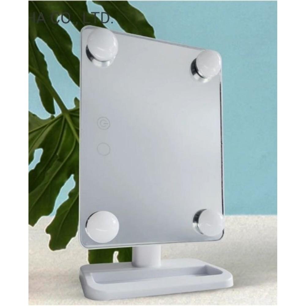 Огледало за гримиране с 4 диода - Super цена