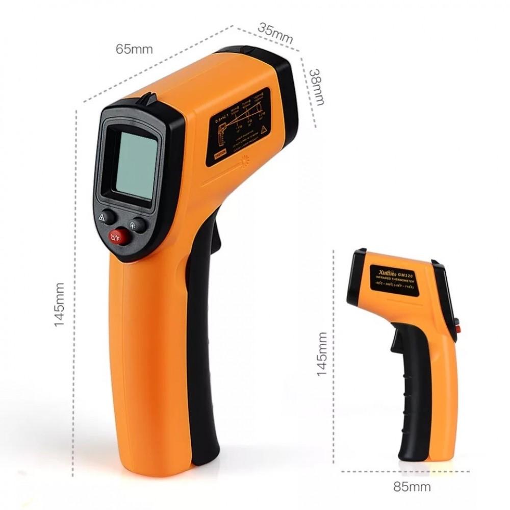 Безконтактен инфрачервен термометър с обхват -50 - 380°C - Super цена