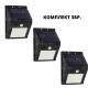 Комплект 3бр. LED соларен прожектор със сензор - Super цена