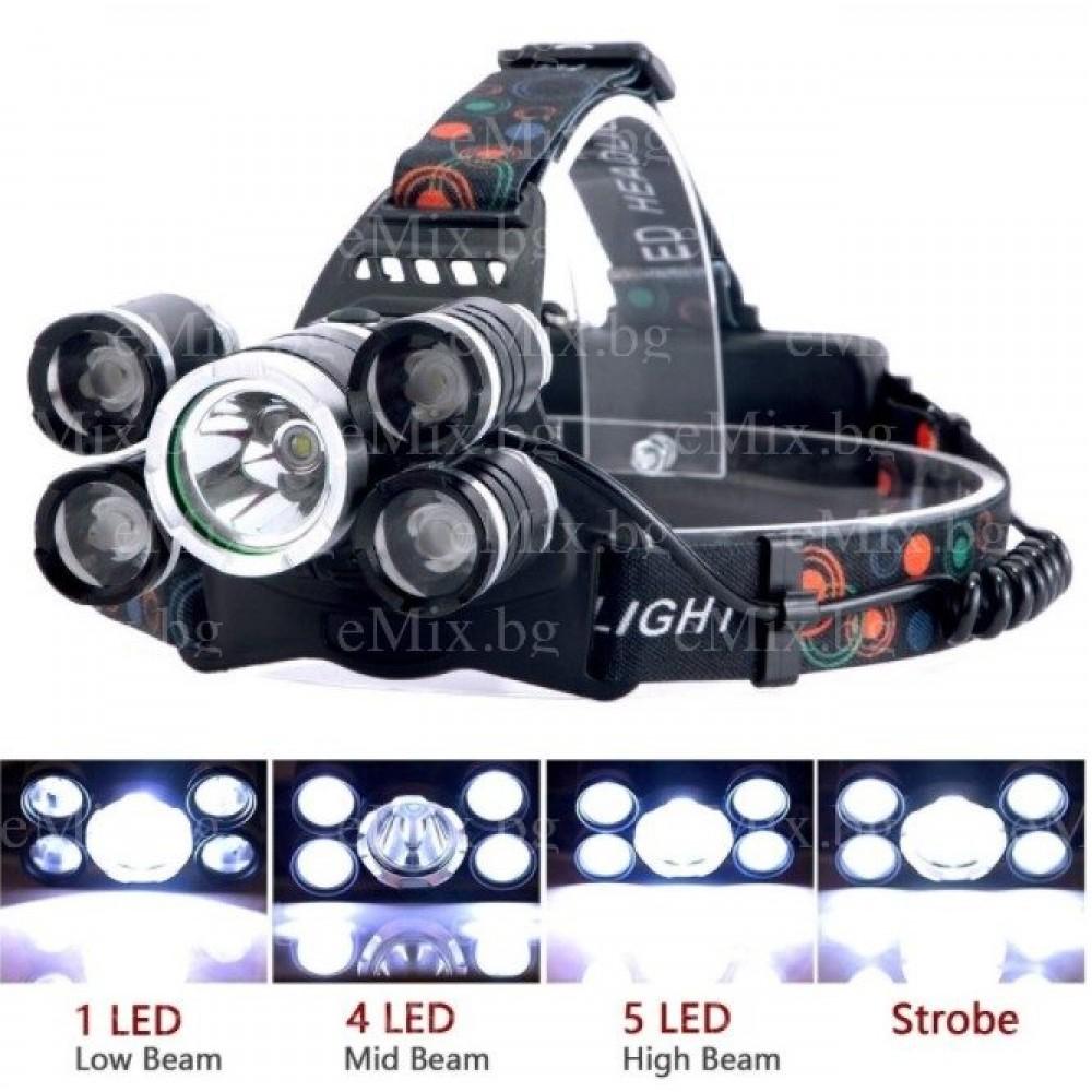 """Фенер тип """"Челник"""" с 5 LED диода - Super цена"""